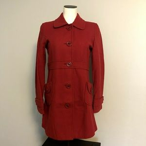 Tulle BP Nordstrom Red Peacoat Jacket w/ Pockets